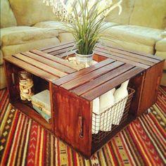 Design sustentável com caixotes de feira