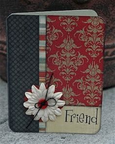Pink Paislee Friend card