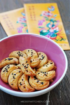 CNY snacks & cookies. -Salted Egg Yolk Cookies. Very easy to make & sinfully delicious!! #chinesenewyear #cny #cookies ~JW