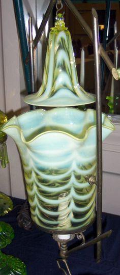Lamp, Vaseline Glass