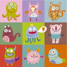 MONSTRUOS DIVERTIDOS 2 Cute Monsters, Learn To Draw, Pikachu, Learning, Halloween, Drawings, Illustration, Fictional Characters, Couture