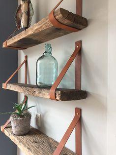 Leren plankdragers drijfhout -