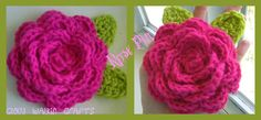 Rose Pin Crocheted by CloudWalkinCrafts on Etsy, $7.00
