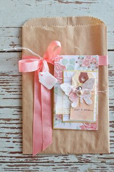 Today I have a coordinating trio which includes a gift sack with gift card and . Creative Gift Wrapping, Creative Gifts, Creative Bag, Paper Packaging, Pretty Packaging, Paper Gift Bags, Paper Gifts, Paper Sack, Gift Wrap Box