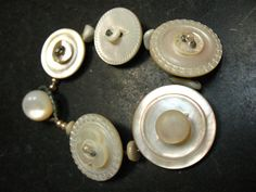 Bracelet of vintage mother of pearl buttons by artywear on Etsy, $29.00