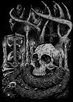 unrestclth.com  #design #skull #vanitas #tshirt
