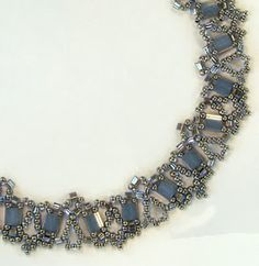 Free Bead Patterns and Ideas : New Tila Lace Necklace - Free pattern