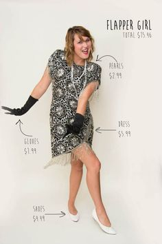 Great Gatsby inspired flapper girl #DIY Halloween costumes from Goodwill.