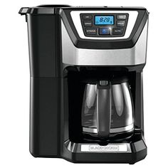Black and Decker CM5000B 12-Cup Mill and Brew Coffeemaker, Black * Want additional info? Click on the image.