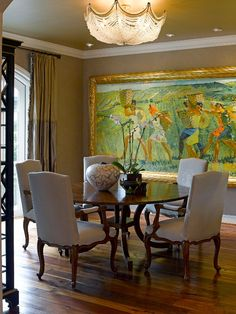 California Maison :: <3painting + dining space with a patio access