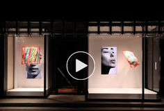 Tokujin Yoshioka - hermès - window retail display Fantastic use of combination of digital+textile