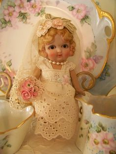 Love this pretty little bride doll