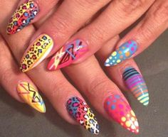 80s inspired nail designs