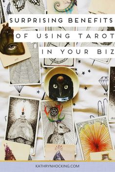 How to use the Tarot to enhance your business and set intentions - a guest blog on Kathryn Hocking.com by Elle North.  #wildunknown