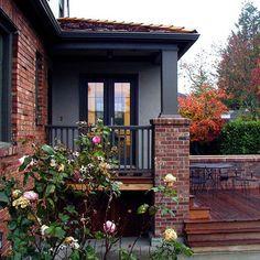Exterior Red Brick Tudor Home Design, Pictures, Remodel, Decor and Ideas I am liking brick more....