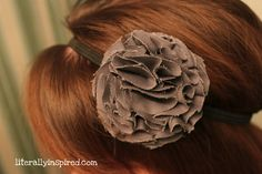 ruffle flower headbands