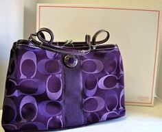 Unbelievable About This Coach Site! I always keep my daily supplies on my coach bag! Burberry Handbags, Coach Handbags, Coach Purses, Purses And Handbags, Burberry Bags, Purple Purse, Purple Bags, Lavender Purse, Purple Handbags