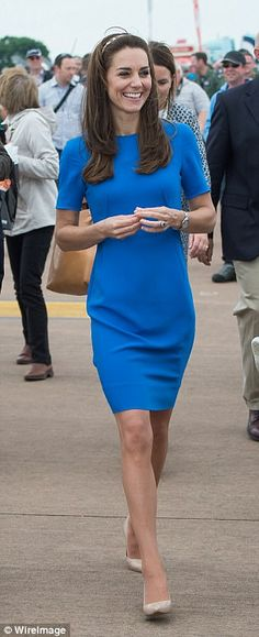 Kate and Mary often dress in similar style dresses or shades - just like these two strikin...