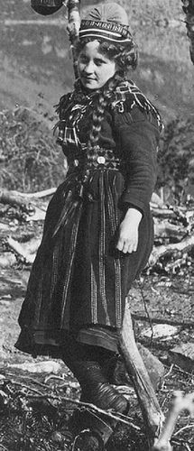 Mountain Sami girl Sweden