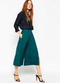 b2de3197a Diez looks para ser la invitada perfecta sin llevar vestido | Estilismos /  Looks | Culottes outfit, Fashion, Culotte pants