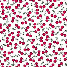 white mini cherry fabric by Timeless Treasures from the USA
