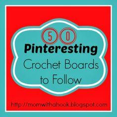 50 #Crochet #Pinterest boards <3 it