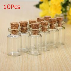 Buy Mini Cork Stopper Glass Bottles Wishing Bottle Vials Weddings Jewelry Party Favors at Wish - Shopping Made Fun Glass Bottles With Corks, Glass Vials, Small Bottles, Wine Bottles, Vodka Bottle, Cork Stoppers, Kids Jewelry, Glass Containers, E Bay