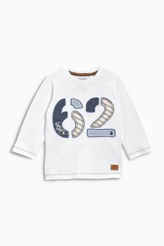 Buy White 62 Appliqué T-Shirt (3mths-6yrs) from the Next UK online shop