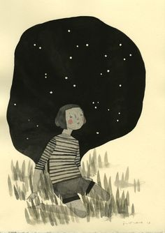 Think of me ... Space by Jen Corace
