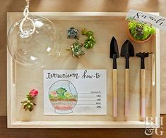 Host a Stunning Terrarium-Making Party - Check out our terrarium how-to instructions, and get ready to enjoy the best girls gathering. Small Terrarium, Succulent Terrarium, Terrariums, Terrarium Supplies, Free Printable Cards, Free Printables, Floral Foam, Gardening Gloves, Party Kit