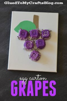 Egg Carton Grapes - Kid Craft