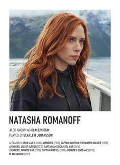 NATASHA ROMANOFF Vintage Polaroid Poster
