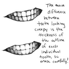 Teeth Sketch / Drawing Tips