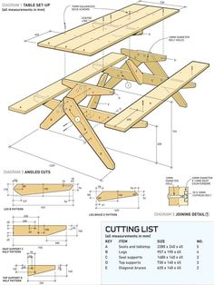 Free Printable Woodworking Plans | Picnic Table Build | Woodworking Project Plans #woodworkingforbeginners #WoodworkPlans