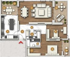 2 Bedroom Apartment Floor Plan, 1st Apartment, Apartment Plans, Sims House Plans, House Floor Plans, The Sims, Circle House, Villa Plan, Planer