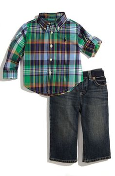 Ralph Lauren Shirt & Pants Set (Infant) if i had a boy, my boyfriend would dress the baby like this