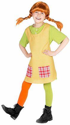 Pippi Langstrumpf Kostüm für Kinder (Party Top Kids)