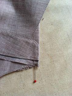 Sew Much Fashion : My Husband's Shirt: Collar and Collar Stand