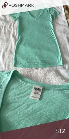 PINK TShirt PINK v neck t-shirt. Pre loved. PINK Victoria's Secret Tops Tees - Short Sleeve