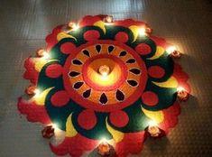 15 Best Rangoli Designs Ideas photos by bondita | HappyShappy 3d Rangoli, Happy Diwali Rangoli, Rangoli Photos, Diwali Special Rangoli Design, Easy Rangoli Designs Diwali, Rangoli Designs Latest, Simple Rangoli Designs Images, Rangoli Designs Flower, Rangoli Patterns