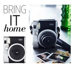 """Bring It Home: Fujifilm Instax Mini 90 Neo Classic Instant Film Camera"" by polyvore-editorial ❤ liked on Polyvore featuring interior, interiors, interior design, home, home decor, interior decorating, Fujifilm and bringithome"