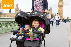 La poussette double Aire Twin par Joie Twin Strollers, Double Strollers, Twin Pram, Double Prams, Prams And Pushchairs, Soft And Gentle, Two Girls, Sit Up, Little Ones