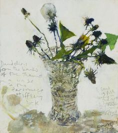 Kurt Jackson - Dandelions from the banks of the Thames.