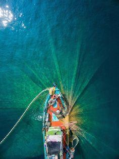 """Fishermen at Work,"" Merang, Terengganu, Malaysia"