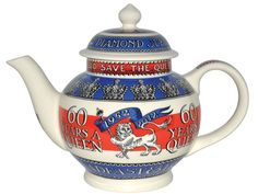 Not a tea drinker but seriously keen on this tea pot to celebrate the Queen's Jubilee.