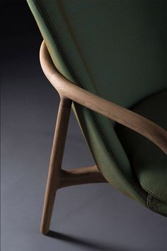 Chair Furniture Green polished Sofa Soft Structure Textile / Fabric Wood Yellow