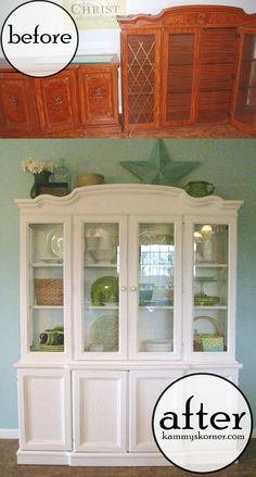 Kammy's Korner: Marie's 80's Hutch Makeover {Creative But Blogless Friends}