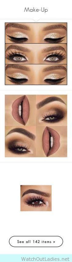 Shimmer eyes, matte lips