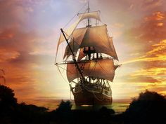 Most Beautiful Spanish Tall Ship in the 1600s | GoNautical Decor