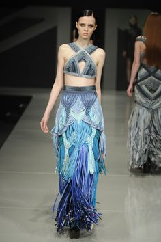 Graduate Fashion Week 2012: Karen Jenssen. The textures and detailing on this is phenomenal.